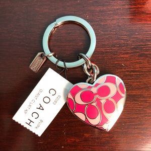 Authentic Coach locket key ring